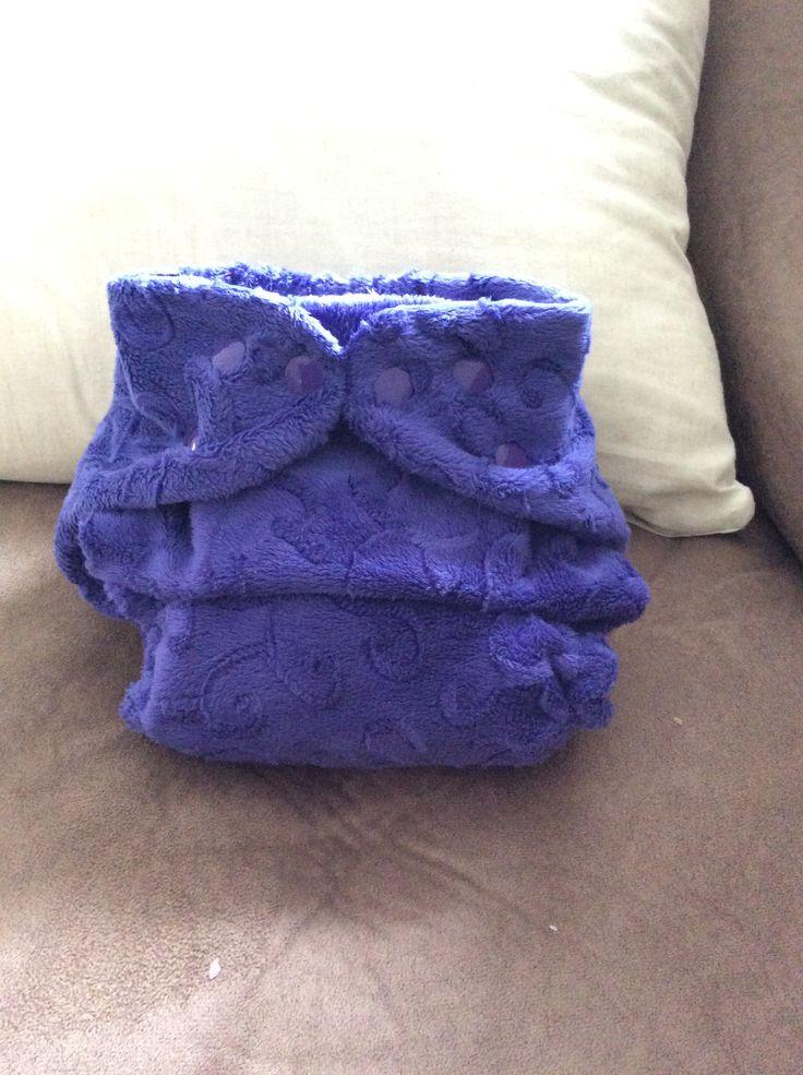 Purple minky swirl