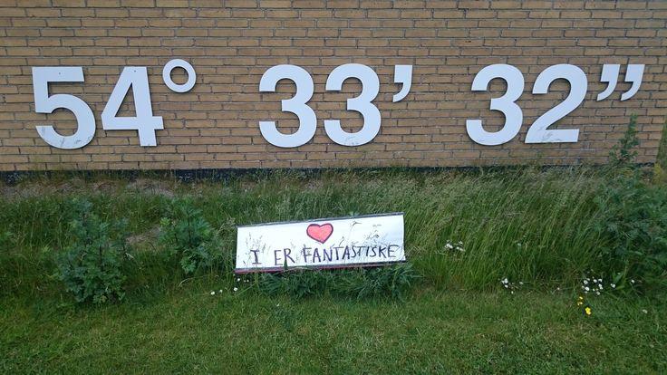 så nåede Skilte Touren, så langt syd på som muligt, i Danmark ;-)