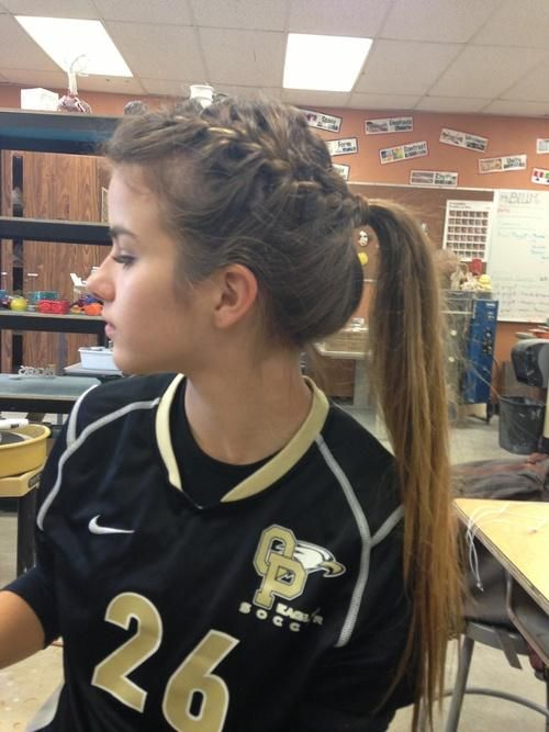 Perfect High Styling Hair Made With A Braid!