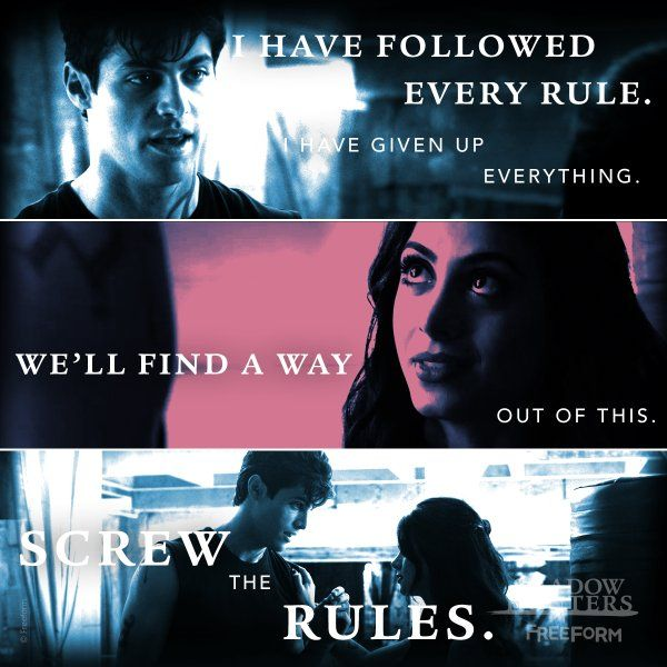 S1 Ep6  quot Of Men and Angels quot    Alec Lightwood  Rule breaker    Shadowhunters