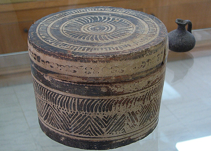 Minoan clay container