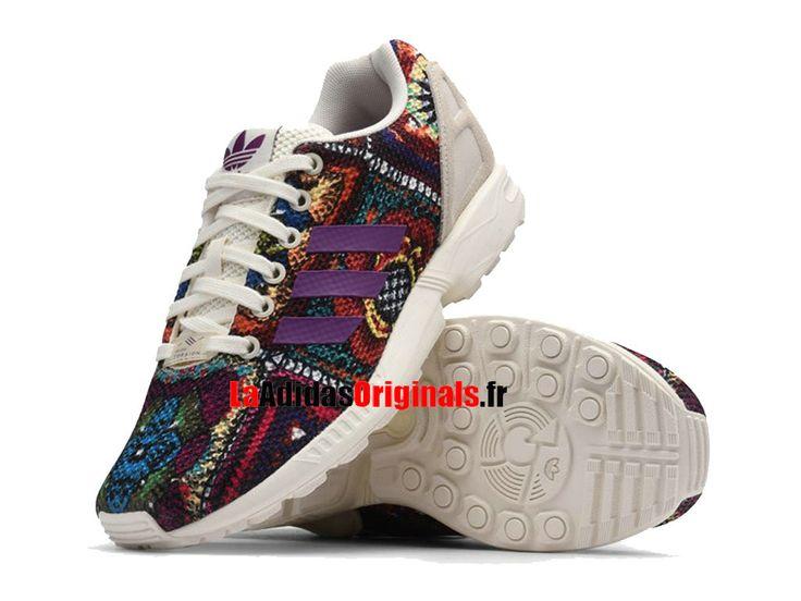 Adidas Originals ZX Flux - Chaussures Pas Cher Pour Femme Noir/Blanc/Rouge S76593-Boutique Adidas Originals de Running (FR) - LaAdidasOriginals.fr