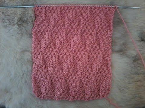 Tuto tricot Point de tricot Point losanges en relief - YouTube