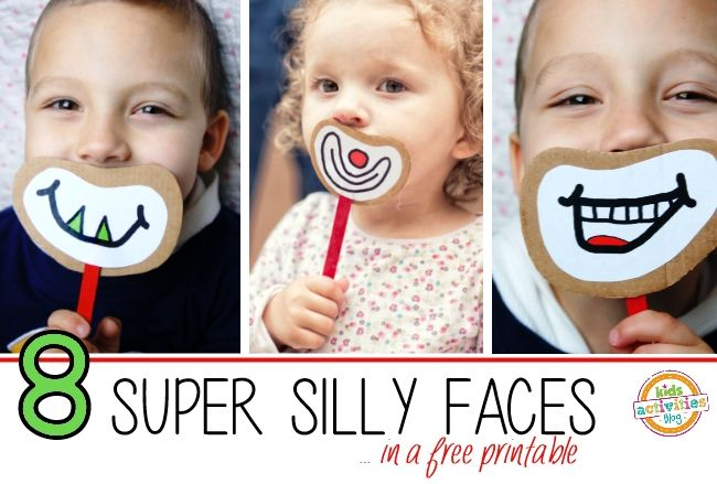Silly Faces Printable from Kids Activities Blog. Cute idea. Have your kids make…