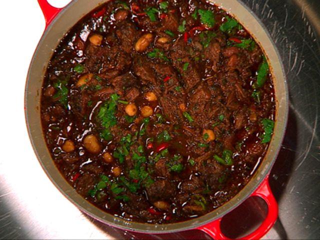 Chili con carne på högrev med kikärtor (kock Markus Aujalay)