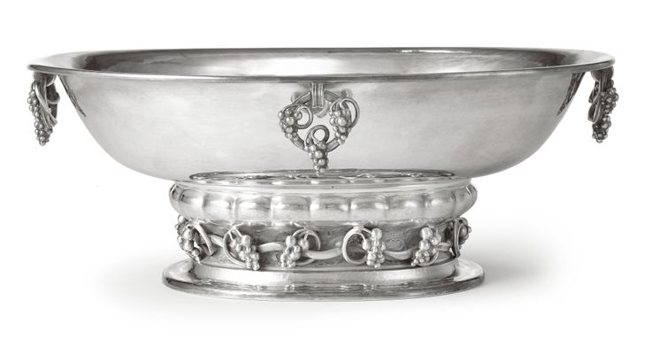 A Danish Silver Oval Bowl, No. 296B, Georg Jensen Silversmithy, Copenhagen, 1945-77