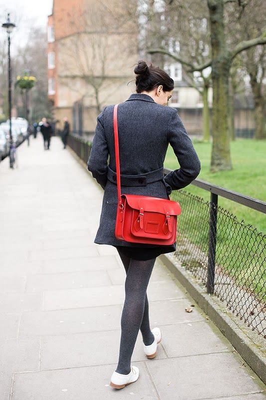 I would love to own a Cambridge satchel in red. A large one would be ideal (with my name - Emma Jayne, engraved on it), so that I could store my books and folders for when I go to university.