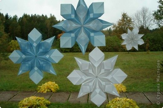 transparent snowflakes