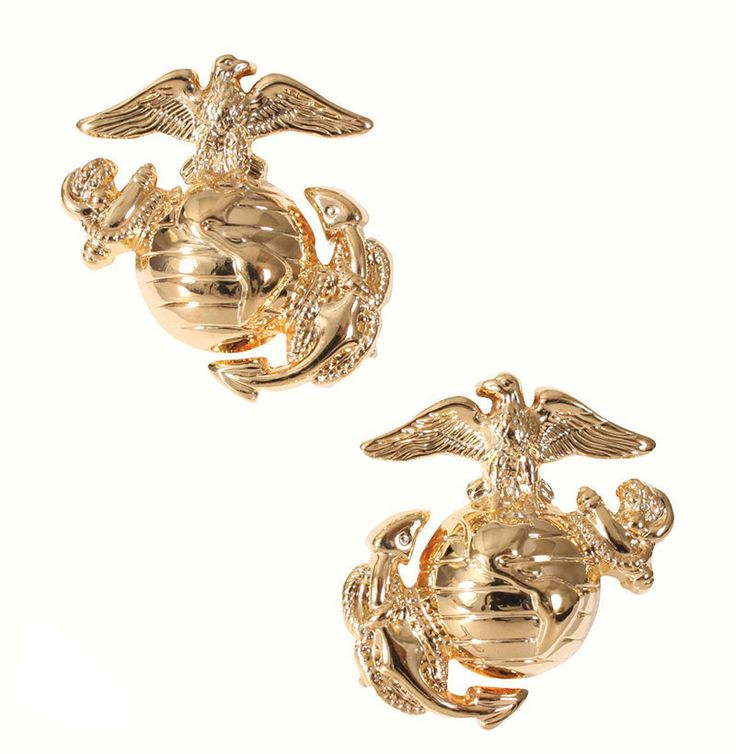Insignia Militar Cuerpo de Marines Gold www.usamericanshop.com