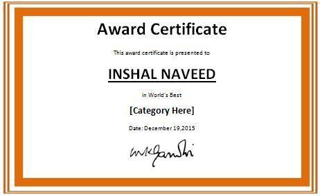 Colorful World's Best Award Certificate Template at wordtemplatesbundle.com