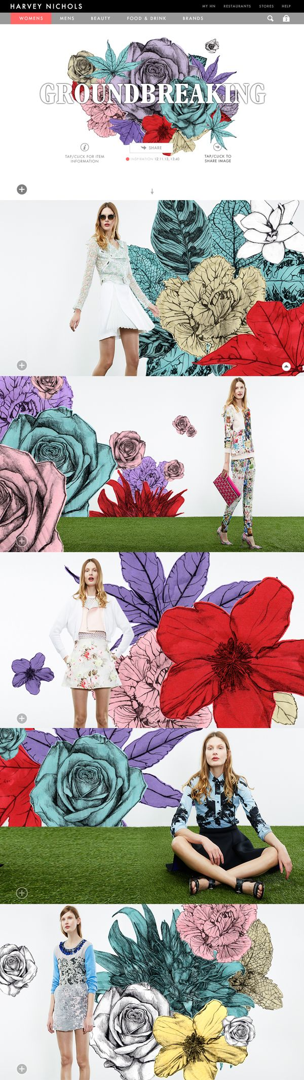 Florals, for Spring? GROUNDBREAKING on Behance