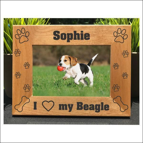 I Love my Beagle // Personalized Engraved Photo Frame // Picture Frame // Gift