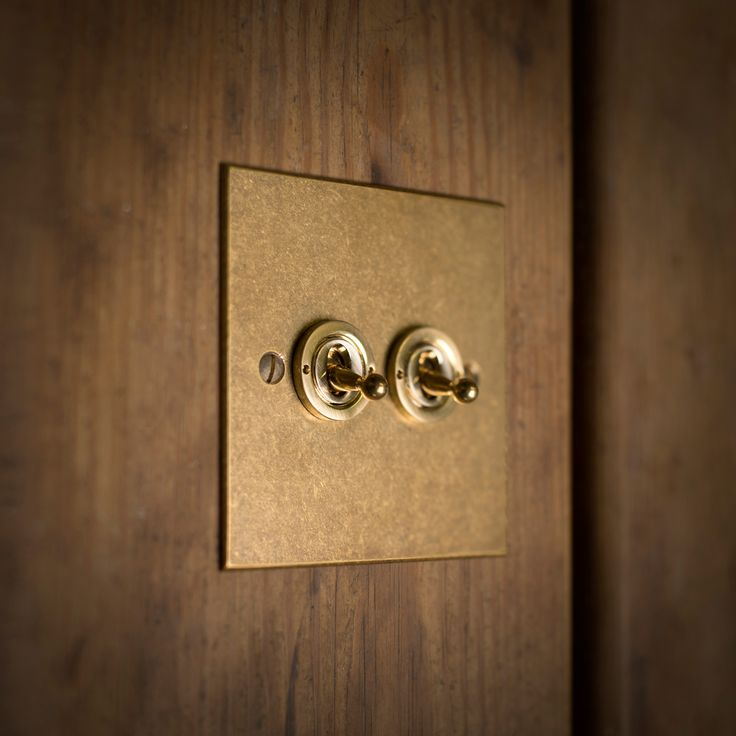 This #elegant #brass dolly #switch adds a traditional touch to any room.