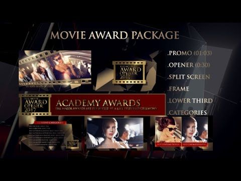 Cinema Award Package | After Effects Template | Royalty Free Video