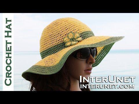 SOMBRERO PARA EL SOL Crochet | Tejiendo Con Erica - YouTube