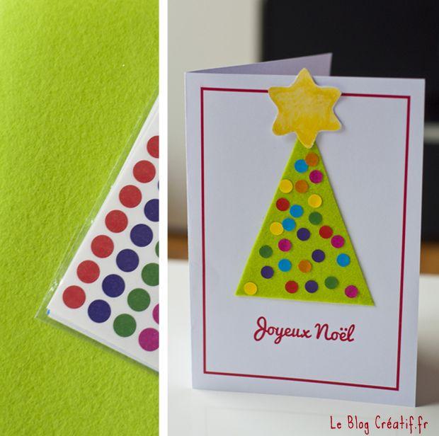 fabriquer une carte de voeux avec enfant