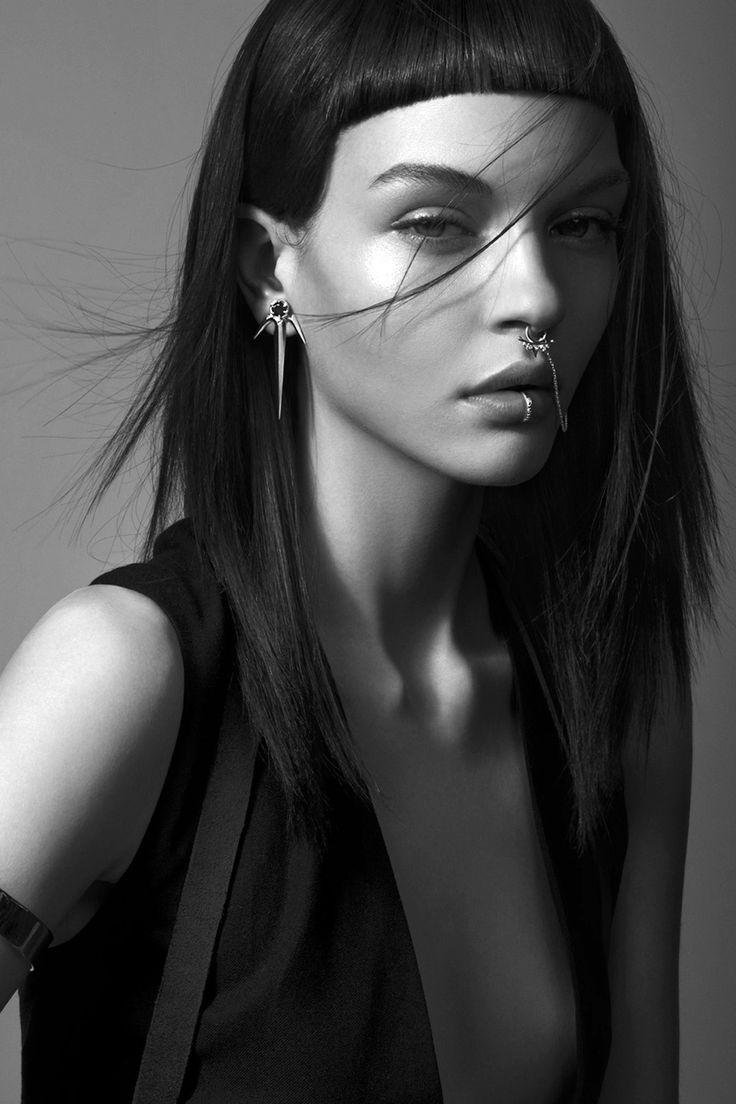 pinterest.com/fra411 #face - Kate Bogucharskaia for Meadowlark's Dynasty Spring/Summer 2014-2015