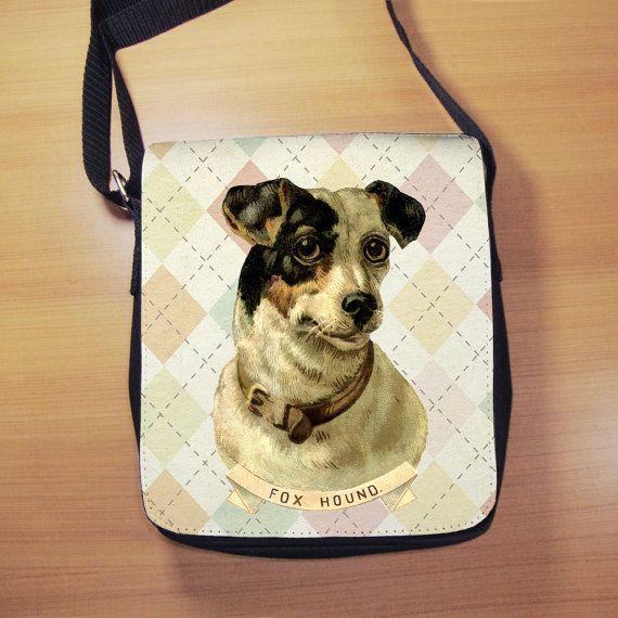 Vintage Foxhound Dog Shoulder Bag  Small Shoulder by RegalosOnline