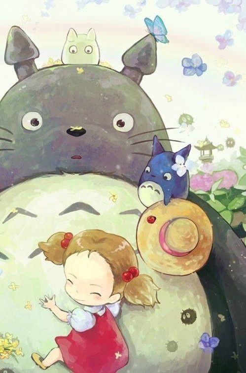 anime, manga, and totoro Bild