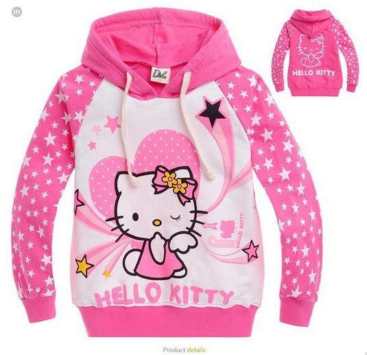 Children's Hello Kitty Hooded Sweatshirt - Hot100Fashions