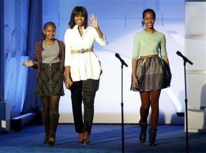 Ist Lady Michelle, Malia And Sasha Obama @ Kids Inaugural... January 19, 2013