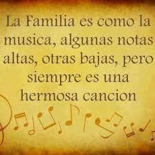 Resultado de imagen de Musica y notas #familiafrases
