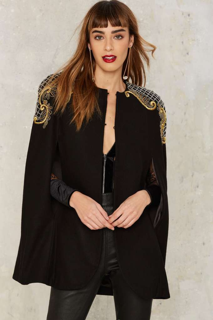 Nasty Gal Collection Carillo Embroidered Cape - Clothes | Nasty Gal Collection | Valentine's Day | Blazers + Capes | Jackets + Coats