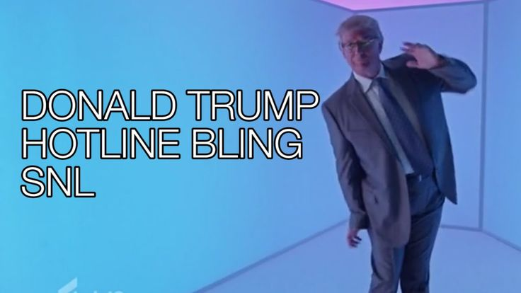 Donald Trump SNL Hotline Bling PARODY Dance, Saturday Night Live Monolog...