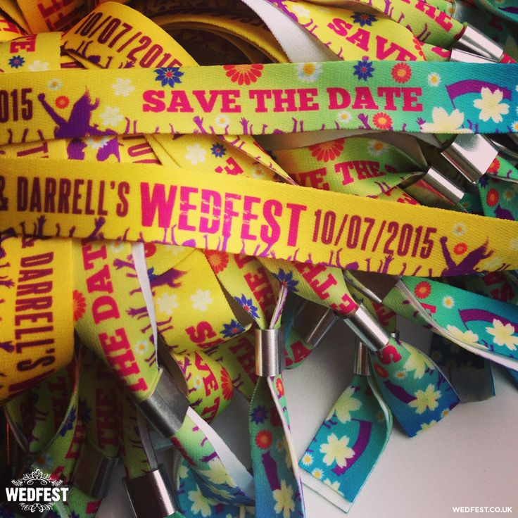 Festival Style Wedding Wristbands | WED FEST