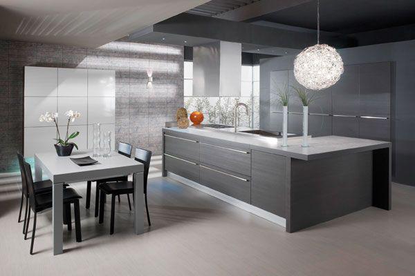 Moderni, harmaa keittiö modern gray kitchen  keittiö  Pinterest  Harmaa,Mo