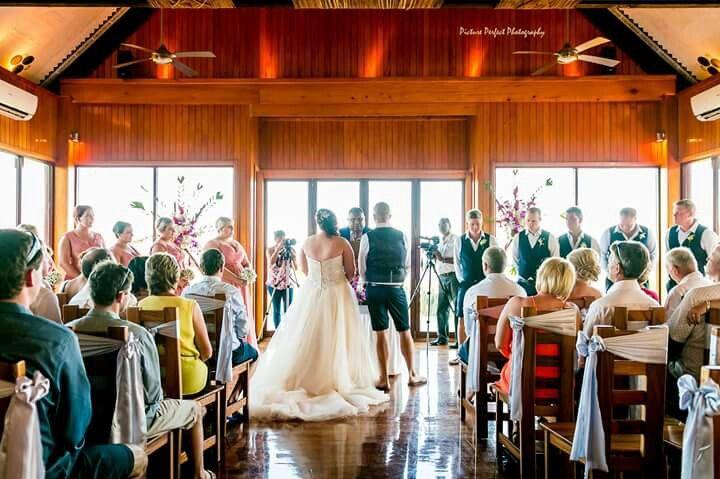 Chapel wedding at outrigger fiji
