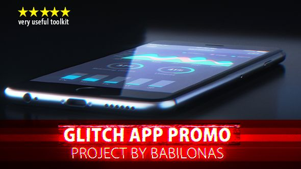 Glitch App Promo (Product Promo) #Envato #Videohive #aftereffects