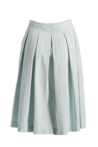 Soft Pleat Skirt - Solid Colour
