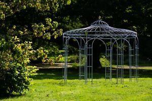 Stabiler Gartenpavillon Verzinkt Metall Ø 350cm Pavillon Eisen Rosenspalier | eBay
