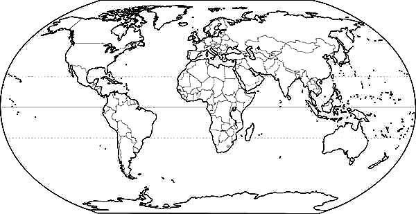World map coloring page