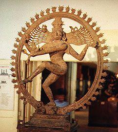 Shiva qui exécute la danse cosmique.