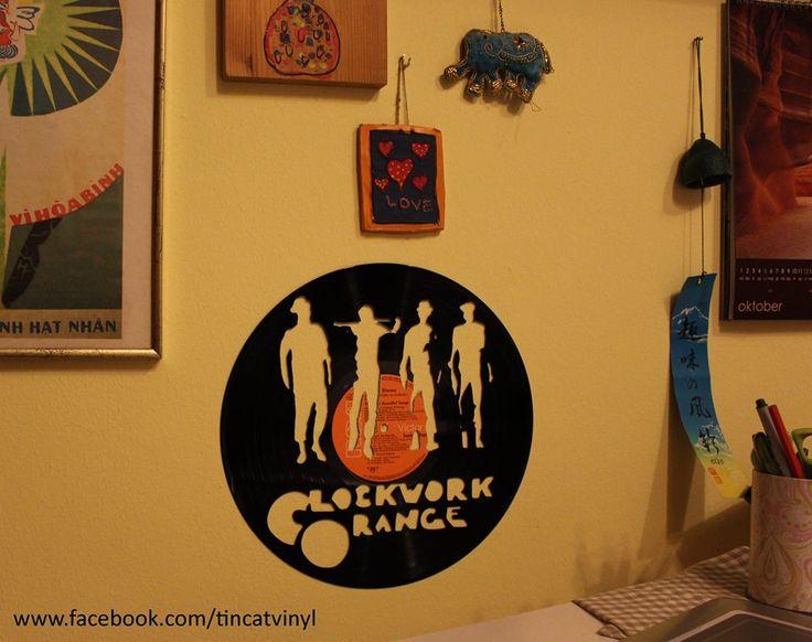 VINYL ART - Clockwork Orange hand made VINYL ART by Tincat for more information & products >> visit www.facebook.com/tincatvinyl