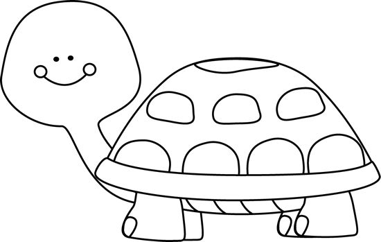 Clip Art Black And White Turtle