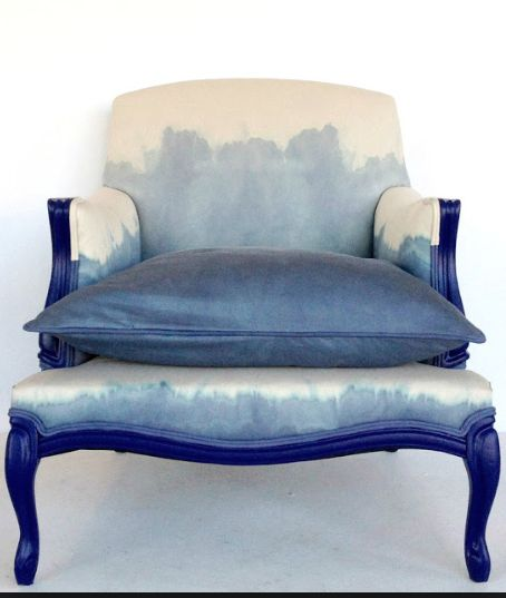 Dip dyed arm chair