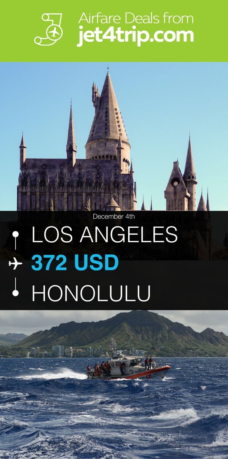 Flight from Los Angeles to Honolulu for $372 by United Airlines #travel #ticket #deals #flight #LAX #HNL #Los Angeles #Honolulu #UA #United Airlines