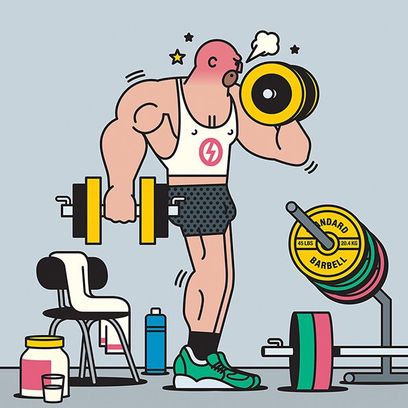 It's Nice That | The people you can't avoid at the gym, by illustrator Rami Niemi