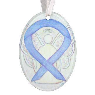 Periwinkle Awareness Ribbon Angel Ornament Pendant