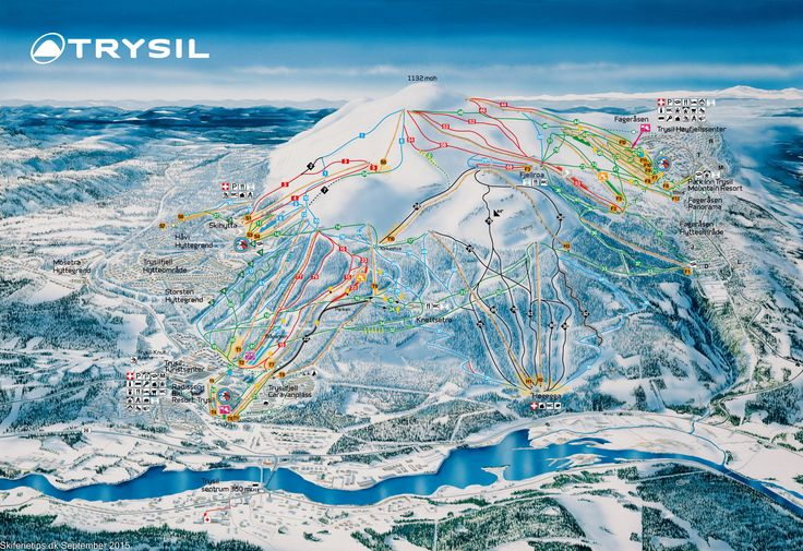 ❄ Updated Trysil Piste Map. #skiing ❄ ➽ See high resolution at http://www.skiferietips.dk/norge/trysil/pistekort