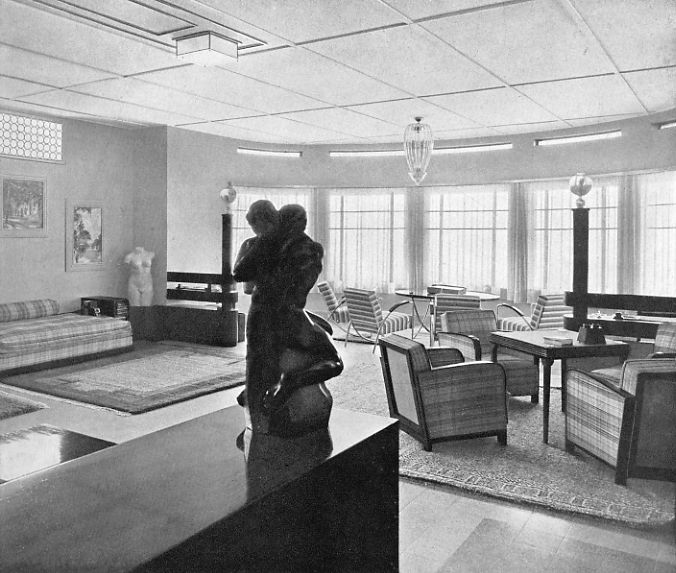 The studio, Villa Isola, 1930s