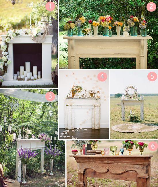 Funky Wedding: Decorazioni per un matrimonio anticonvenzionale: il camino finto *Wedding fake fireplaces*