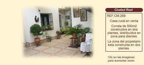 CM269 Campo de Montiel, CIUDAD REAL.  Casa rural en venta http://www.lancoisdoval.es/casas-rurales-en-venta.html