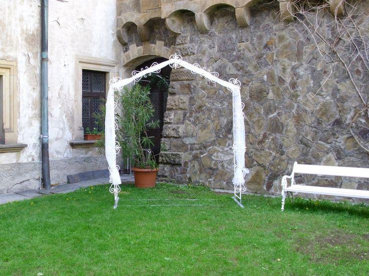 svatební brána ROMA s dekorací