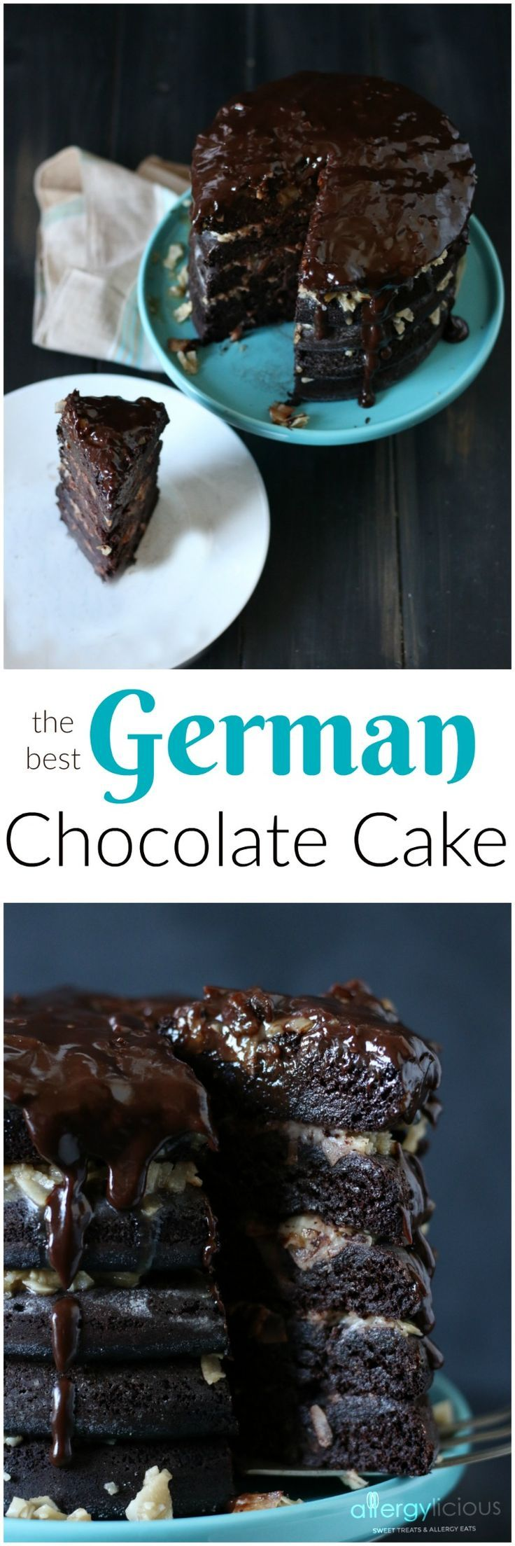 Allergylicious |   German Chocolate Cake.The most amazing Gluten free & allergy friendly German Chocolate cake around!