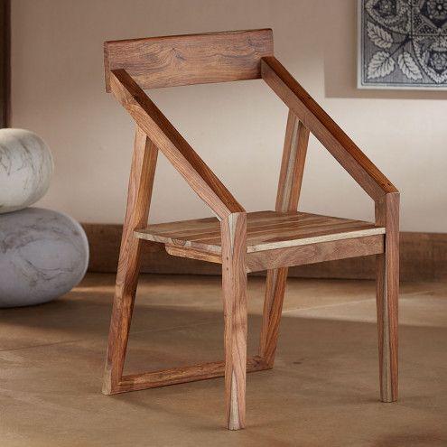 Sheesham Wood Angled Arm Chair. Office FurnitureOutdoor FurnitureFurniture  IdeasZen StyleArm Chairs