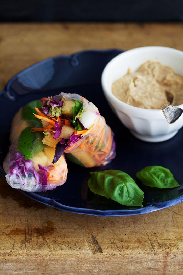 Golubka: Melon Basil Summer Rolls